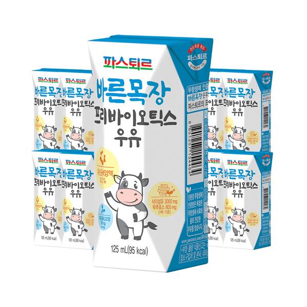 바른목장 프리바이오틱스우유 125ml 24입